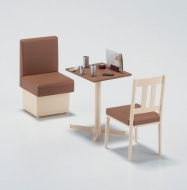 Набор мебели для ресторана 1/12 Posable Figure Accessory — Family Restaurant Table and Chair — 1/12