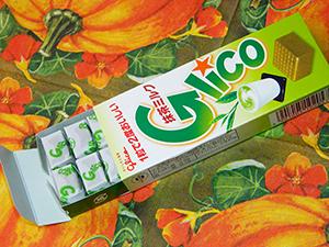 Молочная карамель с зелёным чаем маття Glico Matcha Milk Caramel